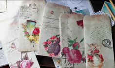 Vintage style envelopes from www.craftsuppliesandmore.com #craftsupplies #scrapbooking #papercraft #vintage #victorian #handmade #scrapbooking #craft #diy
