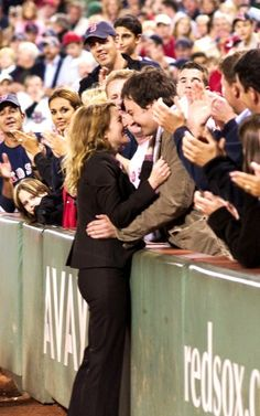 I WANT TO KISS SOMEONE LIKE THIS. Love this movie for so many moments only Red Sox fans would understand!