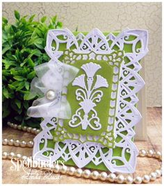 Beautiful card with Spellbinders new Art Deco dies