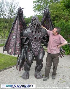 Cthulhu costume monster costume made for LARP by Mark Cordory Creations. www.markcordory.com