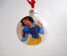 Disney Glass Christmas Ornament Handmade the glitter & design are inside, no more glitter on the floor.