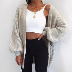 Fall styles 548735535850902650 - Puff Sleeve Bat Loose Cardigan – Chicmony So. - Fall styles 548735535850902650 – Puff Sleeve Bat Loose Cardigan – Chicmony Source by Source by - Fall Winter Outfits, Summer Outfits, Winter Clothes, Christmas Outfits, Look Fashion, Fashion Outfits, Womens Fashion, Feminine Fashion, Party Fashion