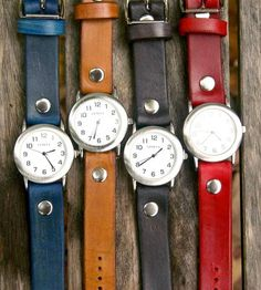 Sunbird Leather Watch by Rhythm Leather on Scoutmob Shoppe