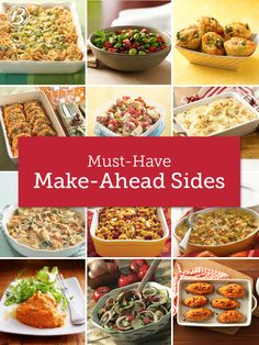 Forever fans of easy dinnertime shortcuts, we pulled together a collection of our favorite make-ahead sides. Whether you use your weekends to work ahead, or are an early bird that starts dinner before breakfast, we have just the dish for you!