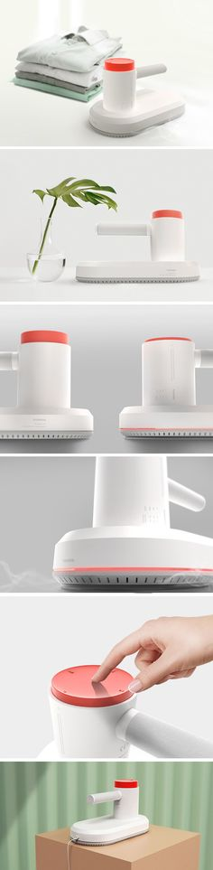 As playful as it looks, the Pushiron's single red button isn't just for show… it results in enhanced safety and intuitive use. By twisting it, the design's bright focal point gives the user complete control to adjust temperature and mode settings. By pressing it, on/off functionality can be toggled and the quick-cooling feature engaged for safety.