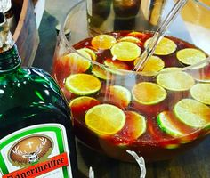 How To Make 'Jägermeister Punch', Your New Favorite Party Drink Jager Drinks, Alcoholic Drinks, Beverages, Party Drinks, Cocktail Drinks, Cocktail Recipes, Cocktails, Punch Recipes, Gourmet Recipes