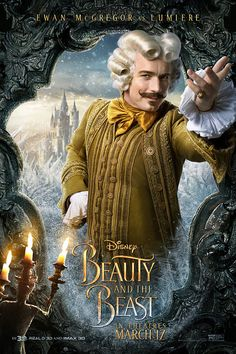 Disney Beauty and the Beast 2017 wallpapers hd with characters Belle Gaston Beast Plumette Lumiere Cadenza Mrs. Potts, widescreen dualscreen and phone backgrounds, Beauty and the Beast film wallpaper hd, Beauty and the Beast 2017 wallpapers Lumiere Beauty And The Beast, Beauty And The Beast Movie, Walt Disney, Disney Live, Dan Stevens, Live Action, Beauty Beast 2017, Lumiere Disney, Free Poster Printables