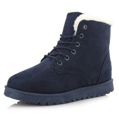 PG Women Winter Boots Botas Mujer Fur Snow Boots Ankle Boots Flat Heels * Check out this great product.