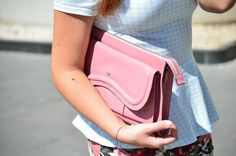 #moshcalifornia #moshbags #mosh #pastel #pastelcolors #colors #peplum #fashionblogger #swag #girl #vogueforbreakfast #summerlook #outfit #bright #streetstyle#leather #pink