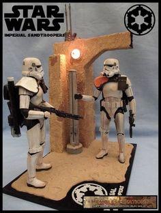 Imperial Sandtroopers (Star Wars) Custom Diorama / Playset