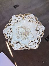 """Early 13"""" C T Germany Reticulated Porcelain Bowl"""