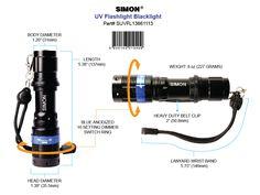 Simon UV  Blacklight Flashlight Diagram available on Amazon http://www.amazon.com/Simon-Flashlight-Blacklight-Ultraviolet-fluorescence/dp/B00DHVH4EE/