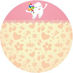 Diş buğdayı pembe temalı yuvarlak sticker Tasarlamak için: https://www.kedi7.net/urundetay.aspx?urun=3&tema=2&kategori=2 #dişbuğdayı #partisüsü #yuvarlaksticker