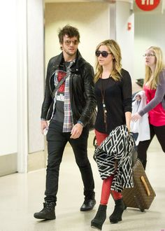 Ashley Tisdale Seen With Martin Johnson at LAX