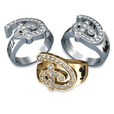 "Disney Ring for Women by Jostens  - I have to admit these are beautiful.  Maybe if my name started with ""D"" #disney #disneyjewelry #disneydiamonds"