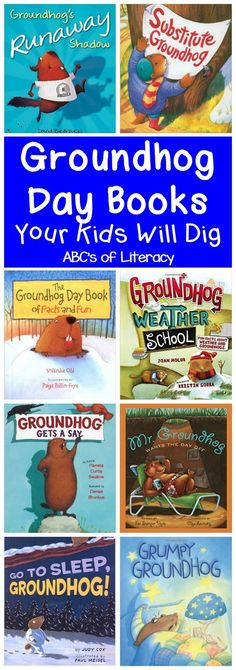 Children will enjoy reading these Groundhog Day Books in celebration of Groundhog's Day and learning about the weather, shadows, hibernation, and more. Groundhog Day Books for Kids | Groundhog Day Picture Books | Groundhog Day Read Aloud Books