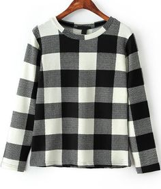 Shop Black White Long Sleeve Plaid Loose Blouse online. Sheinside offers Black White Long Sleeve Plaid Loose Blouse & more to fit your fashionable needs. Free Shipping Worldwide!