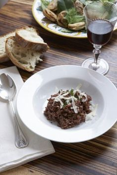 A Recipe for Risotto made with Amarone Wine (Risotto all'Amarone): Risotto made with Amarone red wine