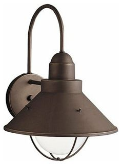 outdoor lighting, oil rubbed bronze, wall mount, Kichler Lighting Seaside Outdoor Sconce  $94.00  Simple and nautical, this lovely fixture adds light and ambiance to your outdoor room.