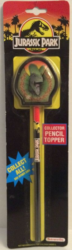 Noteworthy Jurassic Park Collector Pencil Topper - Dinosaur Pencil This item is NOT in Mint Condition and is in no way being described as Mint or even Near Mint. Our toys have not always lead the perf