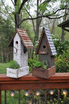 Garden birdhouses...build with the boys by Karin N