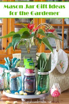 Mason Jar Gift Ideas for the Gardener from cupcakesandcrinoline.com