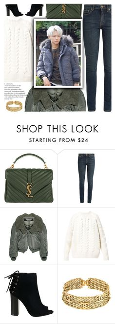"""Untitled #2089"" by anarita11 ❤ liked on Polyvore featuring Yves Saint Laurent, Junya Watanabe, Diesel and Chanel"