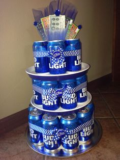 Bud Light Beer Can Cake! Great Gifts For Dads/guys In within Bud Light Cake Designs - Cake Design Ideas Birthday Cakes For Men, Man Birthday, 21st Birthday Gifts For Guys, Dad Birthday Quotes, Happy Birthday, Birthday Nails, Bud Light Beer, Bud Light Cake, Birthday Gifts For Boyfriend