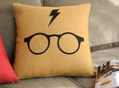 OMGGG I NEED THIS!!! Harry Potter 45cm 18'  Vintage Retro Linen Cotton by CushionMax, $19.99