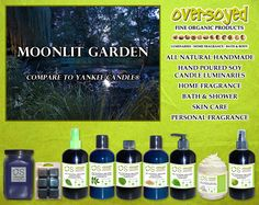 Moonlit Garden (Compare To Yankee Candle®) Product Collection - Inhale the full and floral scents of freesia and lilac and a bit of distant citrus, and feel the lush night wrap itself around you in a warm embrace. #OverSoyed #MoonlitGarden #YankeeCandle #Candles #HomeFragrance #BathandBody #Beauty