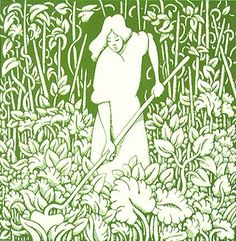 John Alcorn | The Green Curtain Illustration for book jacket for Eudora  Weltyu0027s A Curtain of