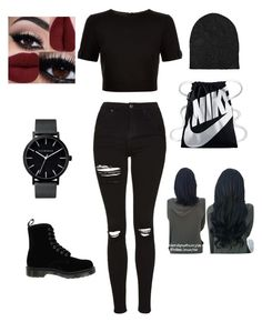 The squad outfit  by katelyn-sours-shrieve on Polyvore featuring polyvore, moda, style, Ted Baker, Topshop, Dr. Martens, NIKE, The Horse, AllSaints, fashion and clothing