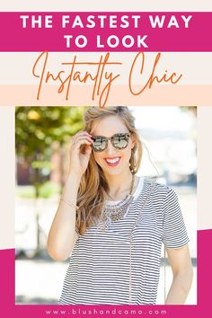 Hello Gorgeous! Today I want to share with you the fastest way to look instantly chic! You're never going to believe how easy it really is! And it works! You'll look your absolute best no matter what you have on! Read on to see what it is! You'll be amazed! #chicoutfit #fashionable #chicfashion #lookyourbest