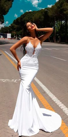 Sexy Mermaid Wedding Dress, V-neck with Appliqus Bodice Wedding Dress, Long Bridal Wedding Dresses Wedding Dresses Sexy Wedding Dress Wedding Dress Mermaid V Neck Wedding Dress V-neck Wedding Dress Wedding Dresses 2018 Wedding Dress Rose, Bodice Wedding Dress, Wedding Dresses 2018, Bridal Dresses, Wedding Lace, Wedding Bride, Glamorous Wedding Dresses, Mermaid Wedding Dresses, Wedding Dresses Tight Fitted