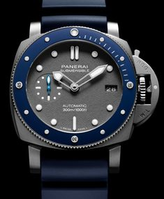 Panerai Luminor Submersible & Watches First Look Modern Watches, Stylish Watches, Luxury Watches For Men, Cool Watches, Vintage Watches, Panerai Luminor Submersible, Datejust Rolex, Metallic Look, Panerai Watches