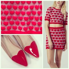 Our Thursday is bursting with love thanks to this plush heart co-ord and patent slippers ❤️❤️