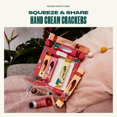 Body Shop At Home, The Body Shop, Cream Crackers, Vegan Beauty, Hand Cream, Cruelty Free, Peace And Love, Skin Care, Tbs