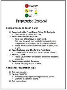 For teachers who are in the beginning stages of implementing the Lucy Calkins Units of Study for Writing.