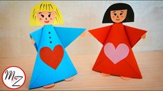 Paper doll making tutorial | Paper crafts for kids DIY | Easy origami fo...