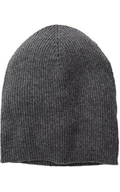 Sofia Cashmere Women's 100% Cashmere Ribbed Slouchy Beanie, Derby Grey, One Size ❤ Sofia Cashmere Women's Accessories