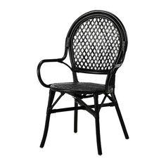 ÄLMSTA Chair - rattan/black - IKEA (paired with a Saarinen tulip table?