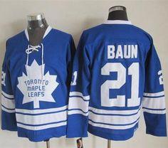 Toronto Maple Leafs #21 Bobby Baun Blue CCM Throwback Third Stitched NHL Jersey