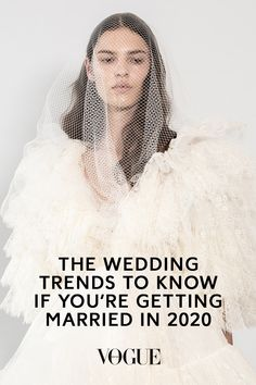 Vogue grills designers, stylists and planners on the biggest wedding trends for 2020 brides Vogue Wedding, Wedding Fur, Wedding Makeup, Wedding Bride, Dream Wedding, Fall Wedding, Wedding Dress Brands, White Wedding Dresses, Wedding Trends