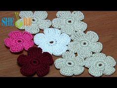 Crochet Simple Five-Petal Flat Flower Tutorial