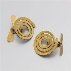 Untitled (Pair of Cufflinks) By Alexander Calder ,Circa  1940