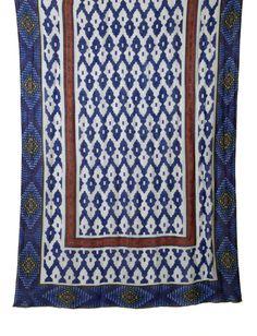 Blue Multi Amarillo Tie All Scarf Theodora and Callum