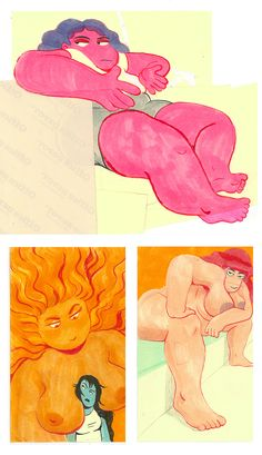 Miranda Tacchia: My latest post-it drawings!