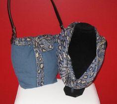 Buy Divadezines Ladies Denim  Blue Shoulder Bag  with Paisley Trim/ has separate matching Cowl by divadezines. Explore more products on http://divadezines.etsy.com