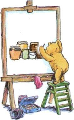 Winnie the Pooh - The Artist Super cute!