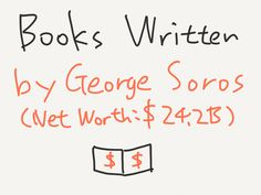 Books Written by George Soros (Net Worth: $24.2B)